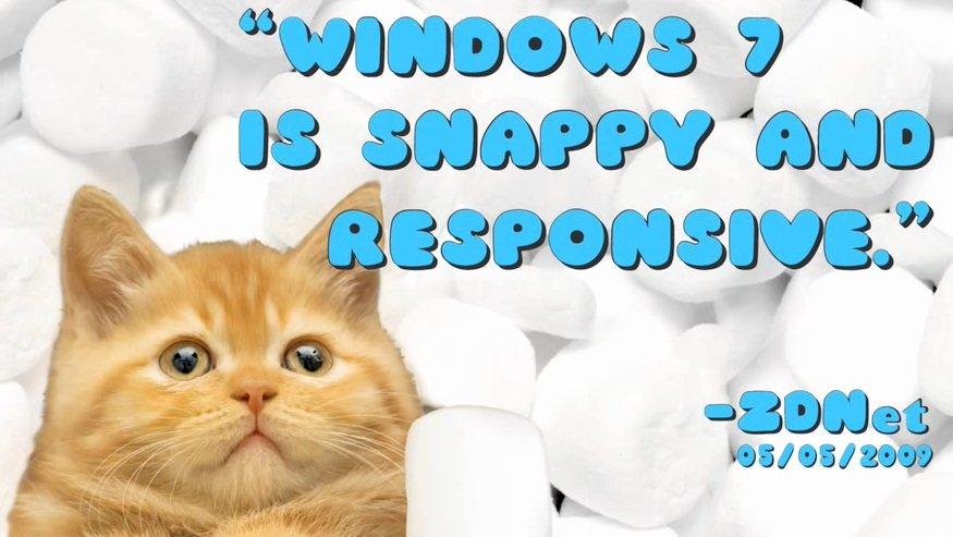 En YouTube-video laget av en 9 åring? Neida, det er en offisiell reklamevideo for Windows 7.