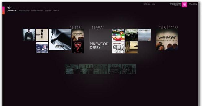Quickplay er en helt ny funksjon i Zune 4.0. Den gir kjapp tilgang til det du hører på og ser på mest.