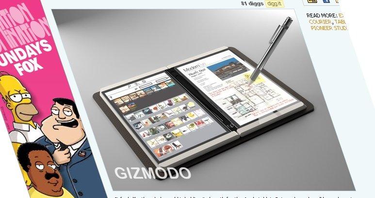 Dette er Microsofts store hemmelighet - en helt ny tablet-PC kalt «Courier». Den kan bli en farlig konkurrent til en eventuell «iPad» fra Apple.