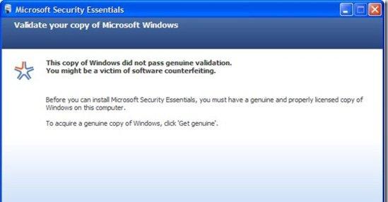 Er du pirat blir du nektet å installere programmet.