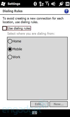 Dette er faktisk en meny fra Windows Mobile 6.5.