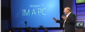 Steve Ballmer lanserte Windows 7 i New York i går.