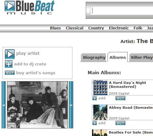 Bluebeat.com mener de har tillatelse til å selge Beatles-låter. Det mener ikke Apple, Beatles' plateselskap...