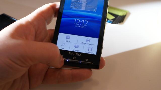 Kontekstensitivt meny akkurat som på andre Android-telefoner