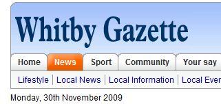 Yorkshire-avisen The Whitby Gazettes nettutgave kan fra i dag bare leses om du betaler fem pund.