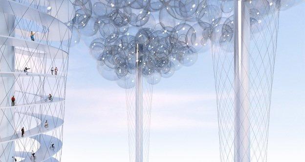 Denne skyen skal etter planen sveve over London under de olympiske lekene i 2012.