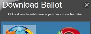 """Windows vil unngå konflikt md Opra og de andre nettleser aktørene ved å innføre et såkalt """"Ballot screen"""" - uavhengig av Internet Explorer."""