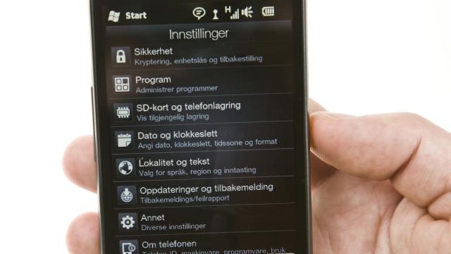 Innstillinger gjøres også i HTCs drakt.