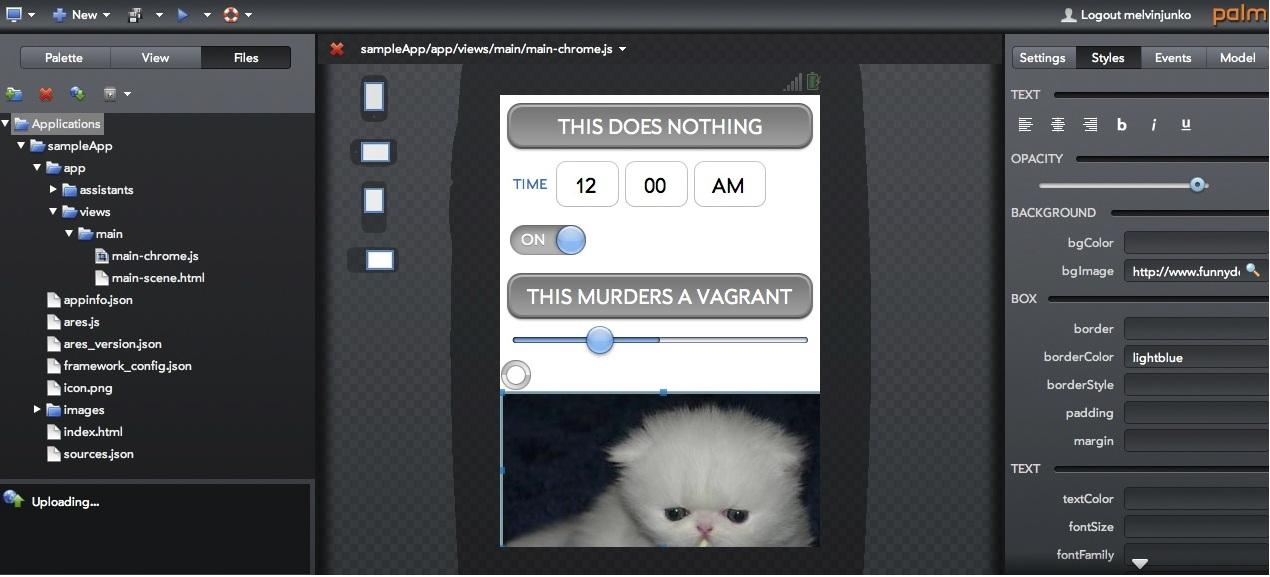 Her er resultatet til Gizmodo, en helt poengløs app som det var veldig enkelt å lage.