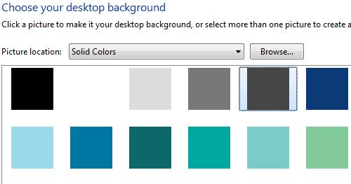 Liker du bruke en bakgrunn bestående av en farge bruker Windows 7 ganske mye lenger tid på logge inn brukeren din.