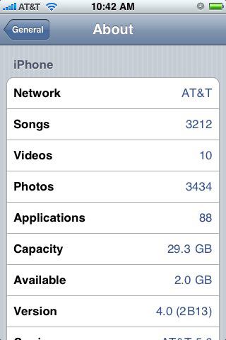Dette skal være det første skjermbildet av iPhone OS 4.0 som kanskje lanseres førstkommende onsdag.