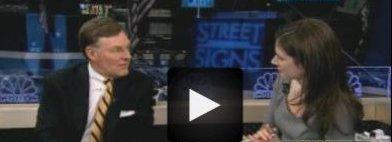 Trevor McGraw i intervjuet med Erin Burnett i TV-kanalen CNBC.