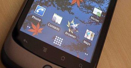 Android 2.4 ventes til sommeren. Her er Googles første HTC-designende mobil Nexus One avbildet. Når den kom var det den første med Android 2.1.