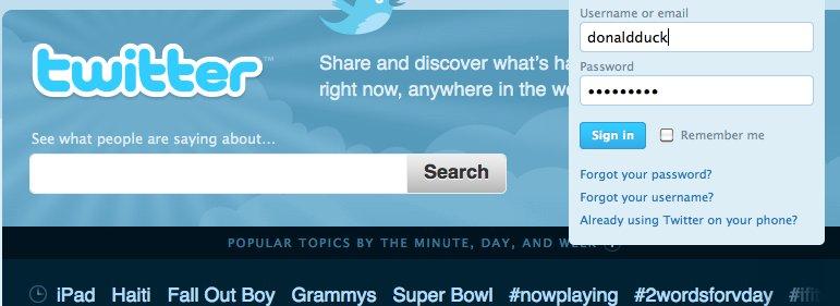 Twitter-ledelsen ber folk skifte passord, og ikke bruke det samme passordet flere steder. Årsaken er skumle torrent-nettsteder som krever innlogging.