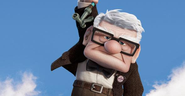 Gamle Carl fra filmen «Up» er ikke helt seg selv dersom du prøver å rippe ham...