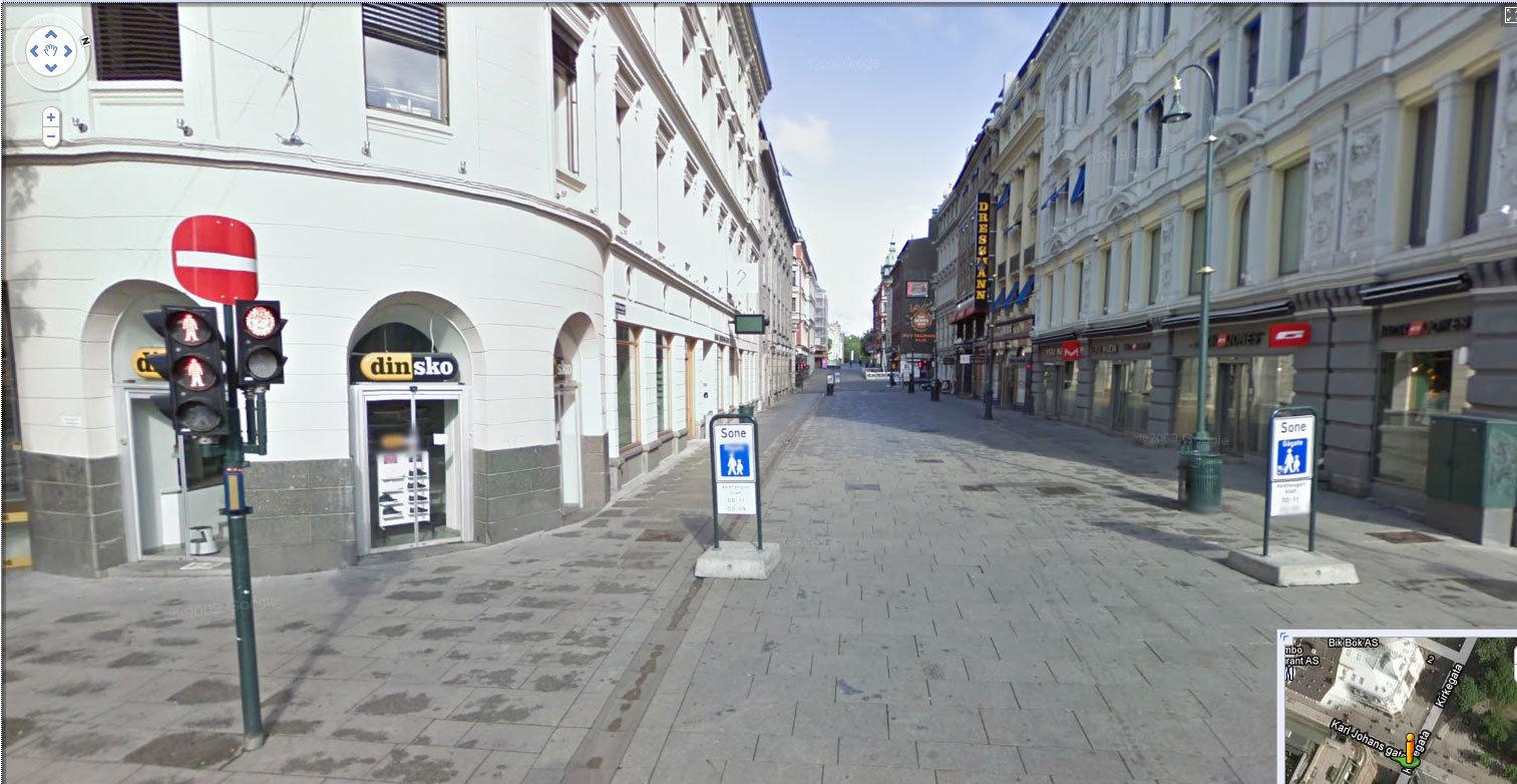 Oppover Karl Johans Gate
