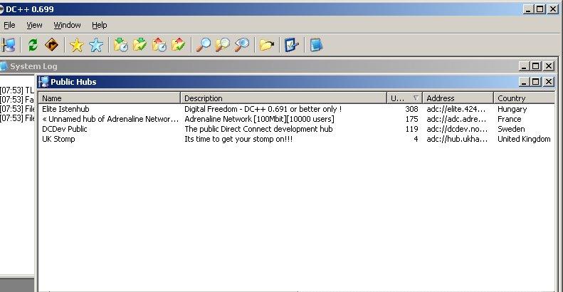 Slik ser Direct Connect-programvaren ut. Det er denne som ofte ble brukt for å overføre piratfiler mellom Lyses fiberkunder.