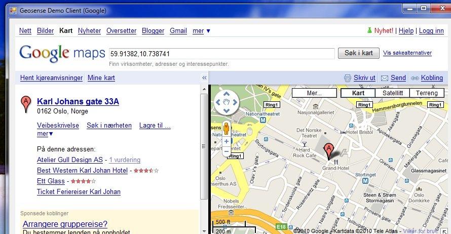 Helt nøyaktig er den ikke. ITavisen sitter ikke i Karl Johans Gate, men i Stenersgata.