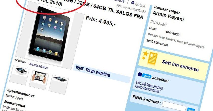 ipad1.no lover 50 iPads før den amerikanske lanseringen.