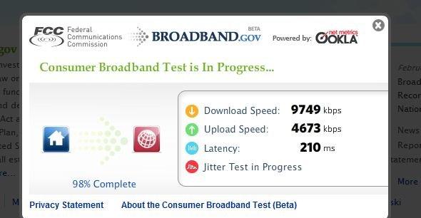 Gjennom Broadband.gov vil Det Hvite Hus vise borgerne hvor sprek linje de har. Men fra Norge er det ikke rare greiene...