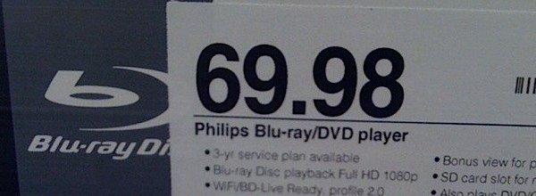 For 69 dollar og 98 cent (om lag 400 norske kroner) kan du nå plukke opp en Philips Blu-ray-spiller i USA.