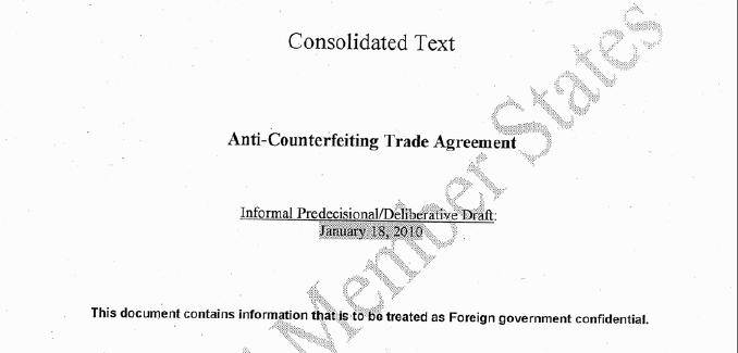 Dette strengt konfidensielle dokumentet viser hva verdens land foreslår som tekst i en framtidig lov om piratkopiering. Nå er det lekket til nettet.
