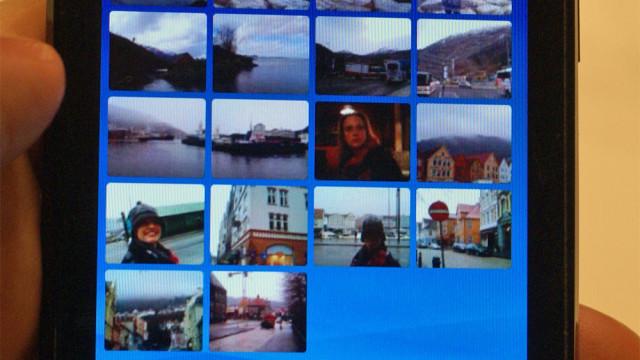 Her er oversikten over bildene du har tatt med kamera.