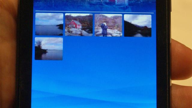 Du kan bla deg gjennom bilder tatt på samme dag, eller samme plass, takket være geotagging.