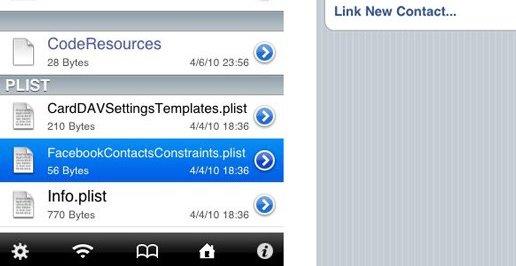 Dette kan være beviset på at Facevbook kommer til iPhone OS 4.0. Det er også ryktet iChat. Dette er logisk da 4.0 får multitasking-støtte, en stor fordel når man chatter.
