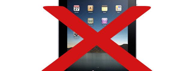 Du kan ikke kjøpe mer enn fem iPader i ditt liv, skal vi tro Apple Store. Og ikke flere enn to om gangen...