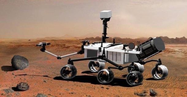 James Camerons 3D-kamera vil bli montert på denne «kjerra», kalt Curiosity.