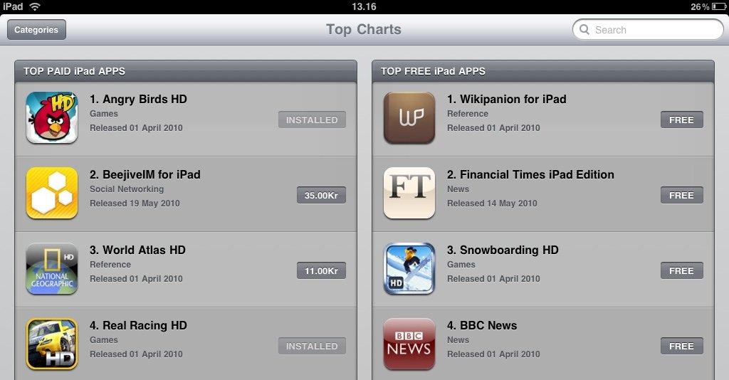 App Store er nå også på norsk, men Keynote, Pages og Numbers er fortatt ikke tilgjengelig.