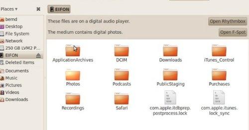 Plugg en oppdatert iPhone 3GS inn i en Ubuntu-PC og alt innholdet kan sees uten noen form for hack.