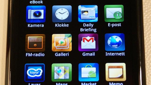 Vanlig applikasjonsmeny