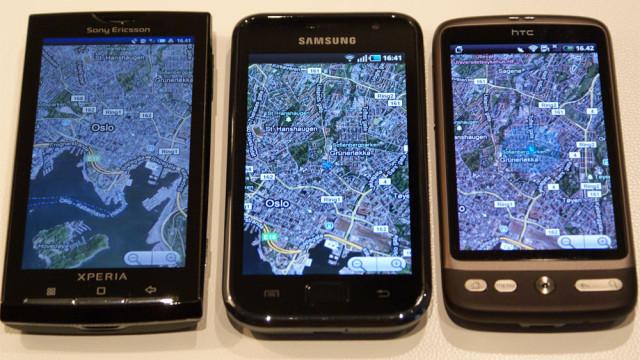 Det er lett å se forskjellen på Galaxy S og nærmeste konkurrenter.