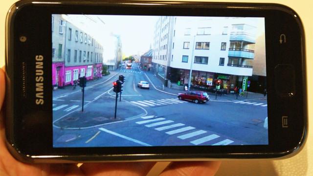 Kameraet filmer i HD, men det hakker litt.