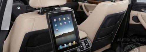 <B>UNDERHOLDNING I BAKSETET:</B> BMWs 2011-modeller kommer med iPad-dokk.