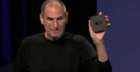 Steve Jobs med Apple TV.