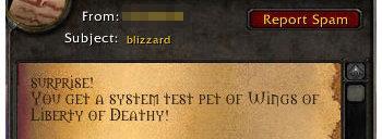 Dette er ett av budskapene som lander i boksen til intetanende WoW-spillere.