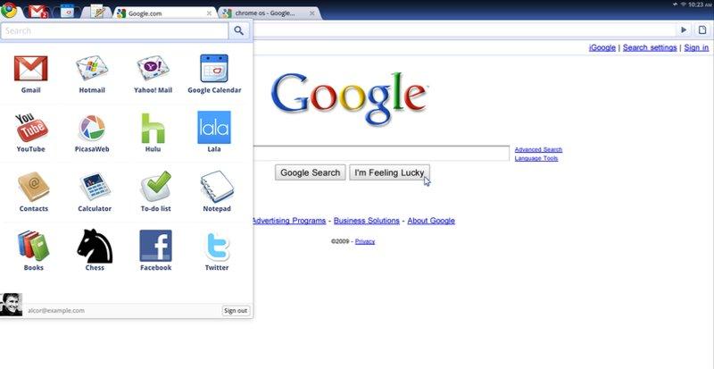 Slik ser Googles nettsentriske OS Chrome ut.