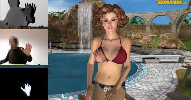 Ved hjelp av en virtuell hånd kan du beføle en virtuell kvinne. Litt stusslig, kanskje?