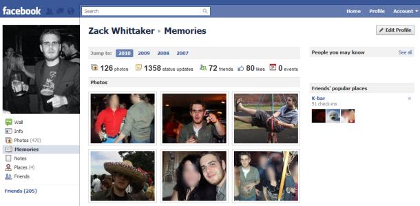 Slik ser Facebook Memories ut.