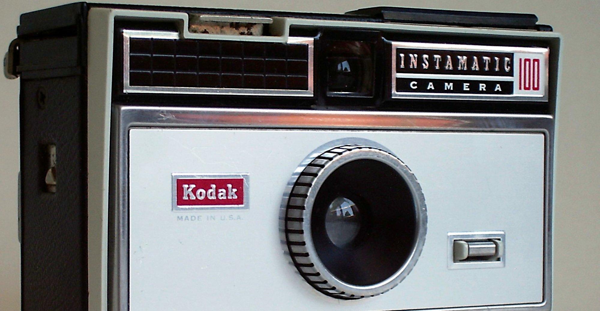GULLALDEREN: Kodak Instamatic var selve folkekameraet den gang da. Her en modell fra 1963.