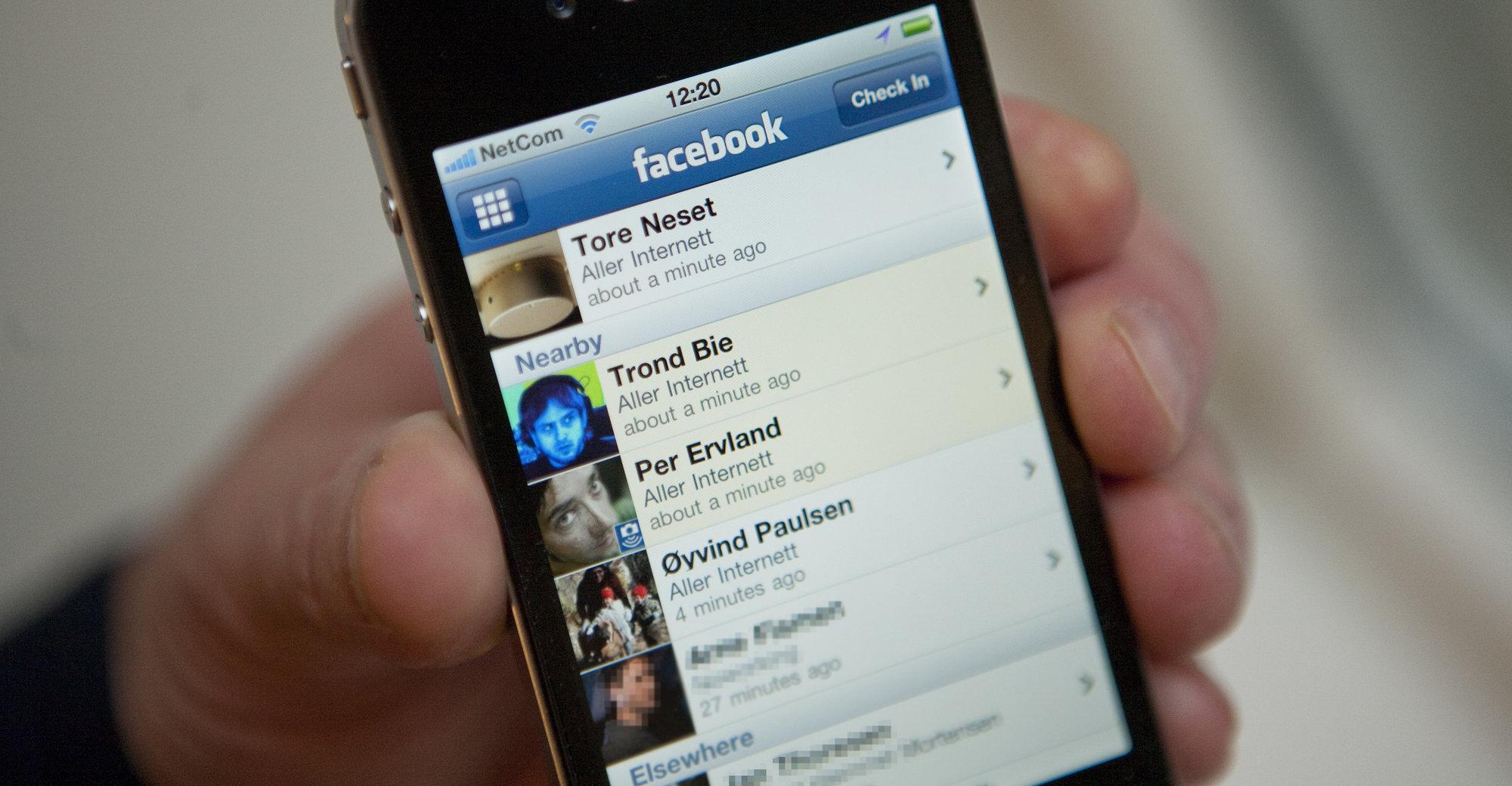 Facebook Places ble uten forvarsel aktivert i Norge.