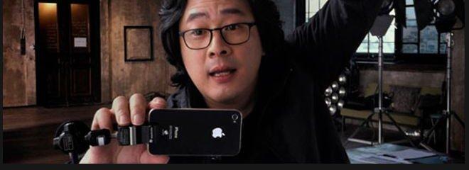 Park Chan wook under filmingen av hans nye film.