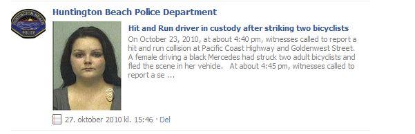 Politiet i Huntington Beach bruker allerede Facebook i kampen mot kriminalitet.