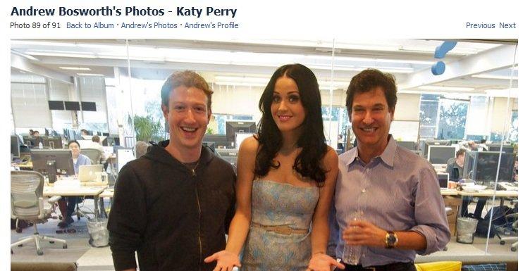 Det viste seg senere at bildene av Kate Perry med blant annet Mark Zuckerberg var offentlige og ikke hacket.