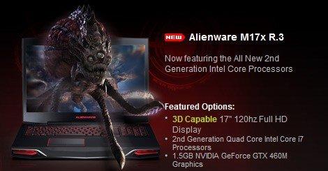 Gaming-laptopen Alienware M17x R.3 blir utsatt grunnet feil i Intels nye Sandy Bridge-brikkesett.