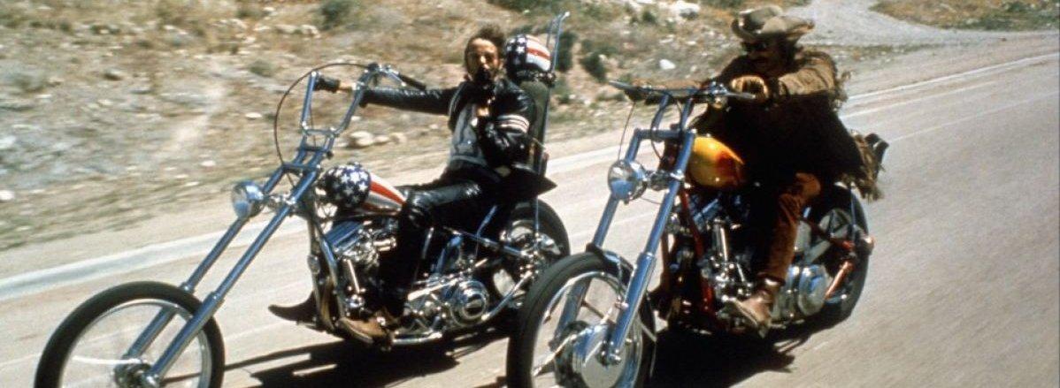 Disse to gutta fra den klassiske motorsykkel/hippie-filmen Easy Rider (1969) var ikke til stede på Dells arrangement...