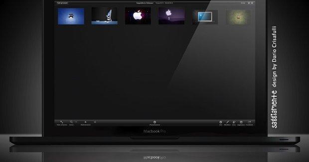 Blir den nye MacBooken med Liquidmetal slik? Dette er en mockup.